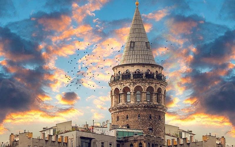 برج گاتالا استانبول، سازه مخروطی شهر استانبول در ترکیه