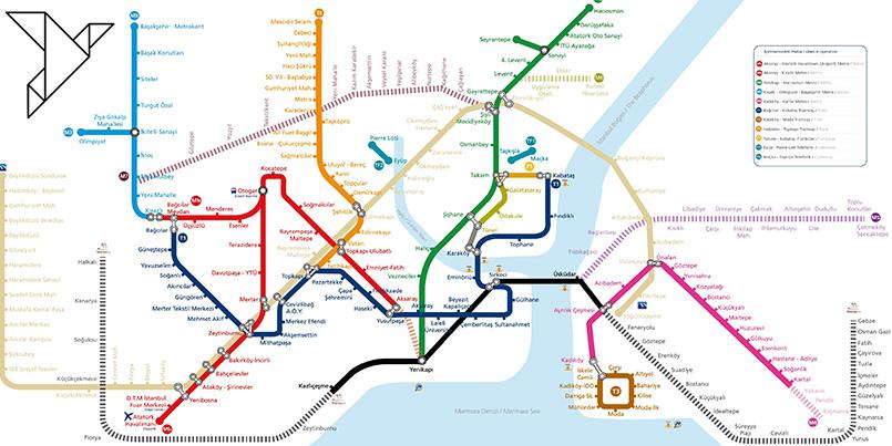 دانلود عکس نقشه مترو استانبول 2019 با کیفیت بلا