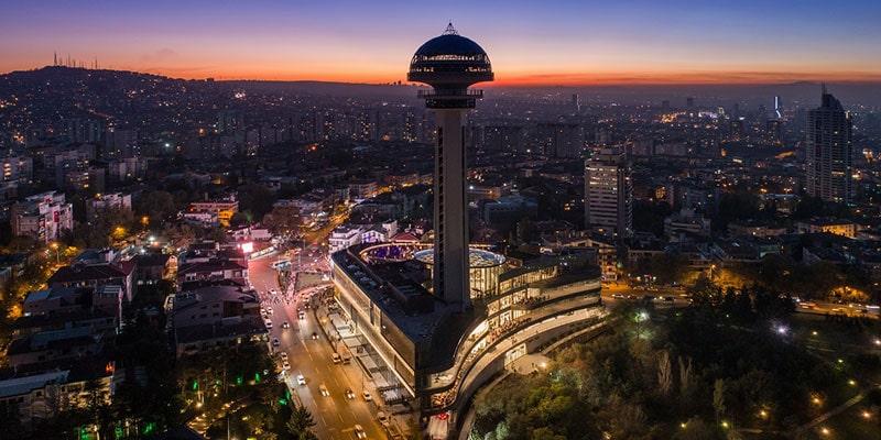 برج آتاکوله آنکارا، نماد شهر