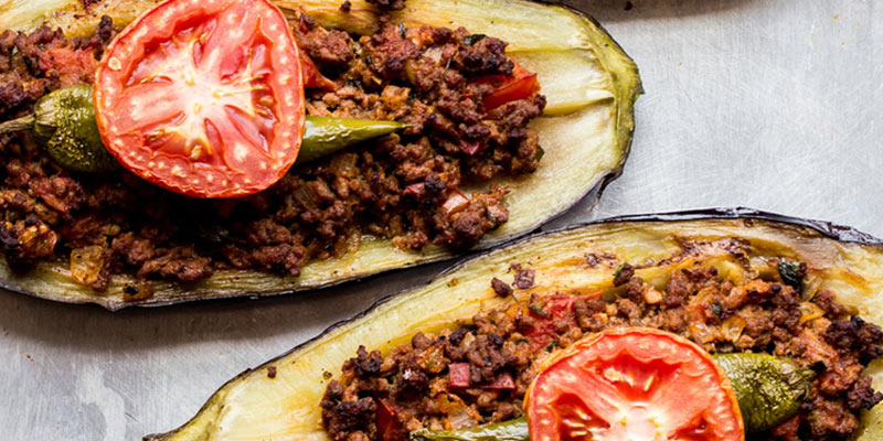 غذای ترکی مدرن با گوشت