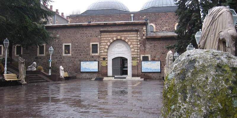 نمای بیرونی ساختمان موزه آناتولی آنکارا