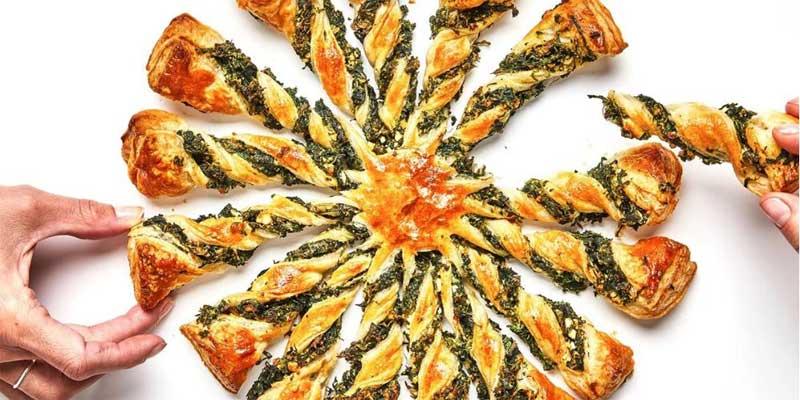 تارت اسفناج به عنوان پیش غذای ترکیه ای