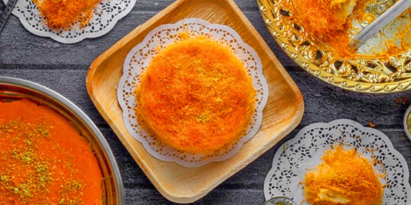 کنافه از انواع شیرینی های ترکیه ای