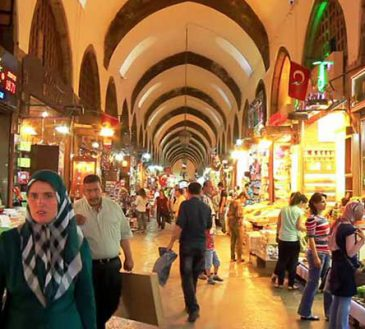 بازار عمده روسری در استانبول