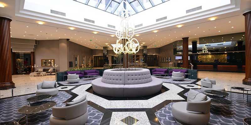 لابی هتل 5 ستاره گرند جئاهر شیشلی استانبول