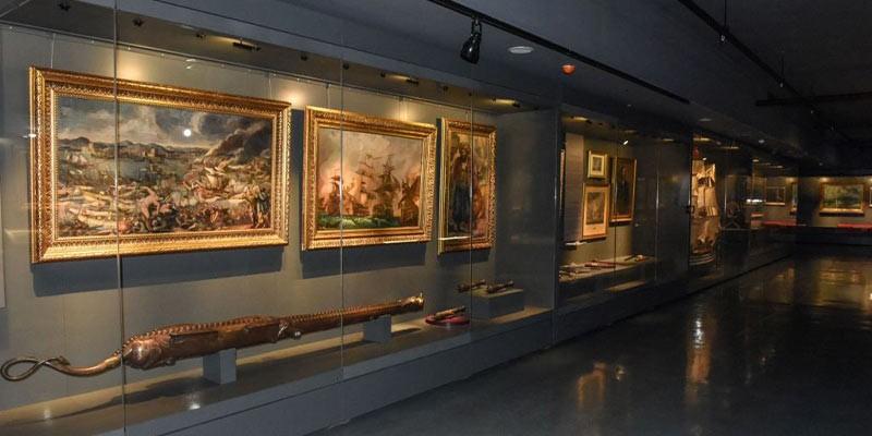 بخش های مختلف موزه نیروی دریایی استانبول
