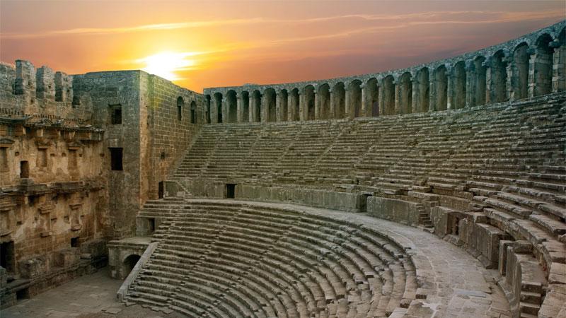 شهر باستانی آسپندوس آنتالیا کجاست